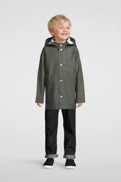 Stutterheim---Raincoat-for-children---Mini-Stockholm---Green