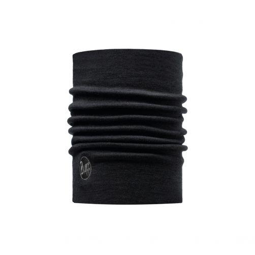Buff---Heavyweight-Merino-Wool-Solid-Tube-scarf-for-adults---Black