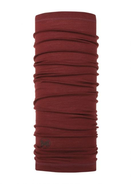 Buff---Lightweight-Merino-Wool-Tube-scarf-Solid-for-adults---Wine-Red