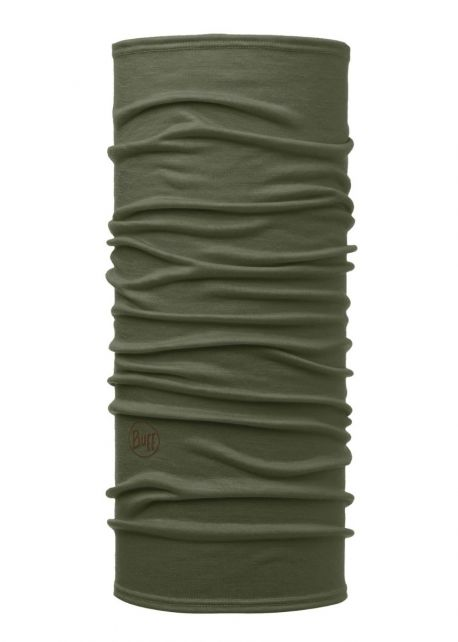 Buff---Lightweight-Merino-Tube-scarf-Solid-for-adults---Forest-Green