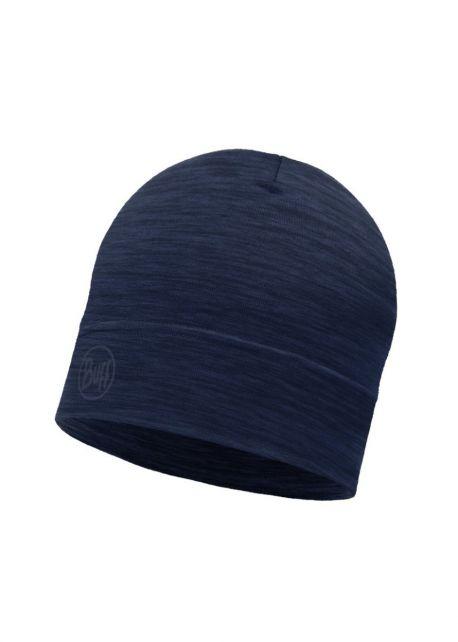 Buff---Lightweight-Merino-Wool-Hat-Solid-for-adults---Denim-Blue
