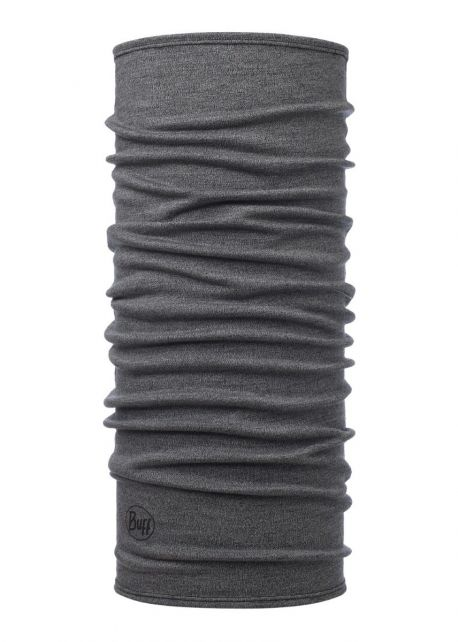 Buff---Midweight-Merino-Tube-scarf-Melange-for-adults---Light-Grey