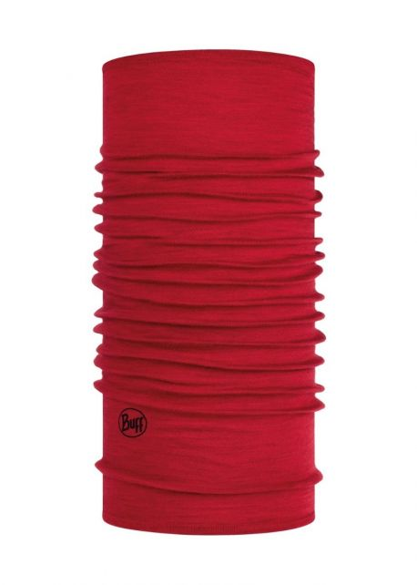 Buff---Midweight-Merino-Wool-Tube-scarf-Solid-for-adults---Red