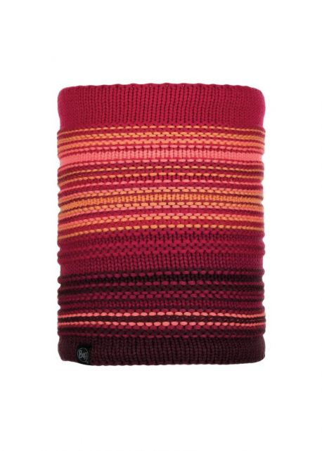 Buff---Knitted-Polar-Tube-scarf-Neper-for-adults---Rot/Multi