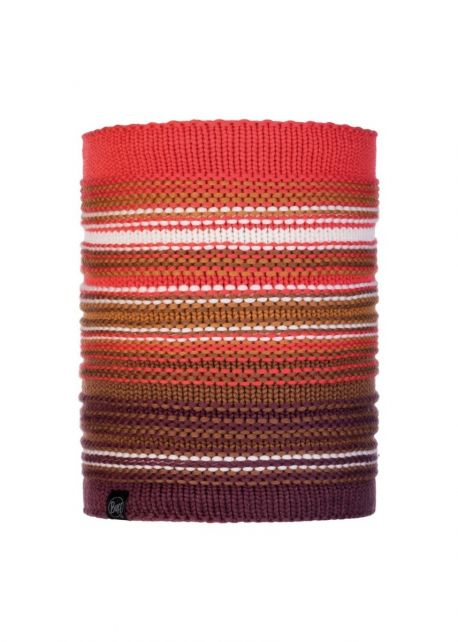 Buff---Knitted-Polar-Tube-scarf-Neper-for-adults---Maroon/Multi