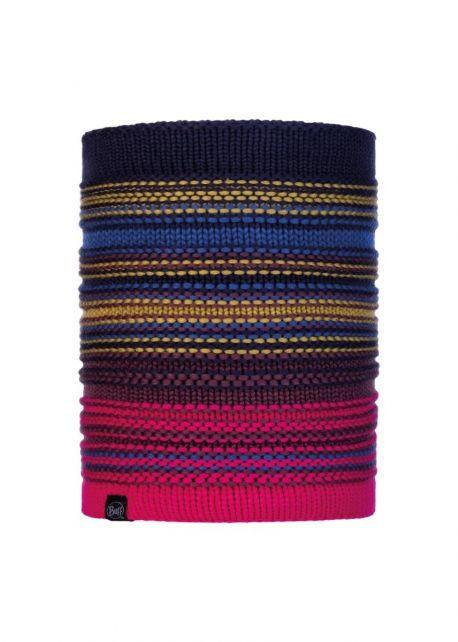 Buff---Knitted-Polar-Tube-scarf-Neper-for-adults---Nightblue/Multi