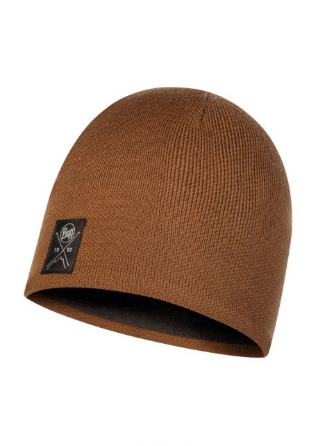 Buff---Knitted-Polar-Solid-Hat-for-adults---Khaki