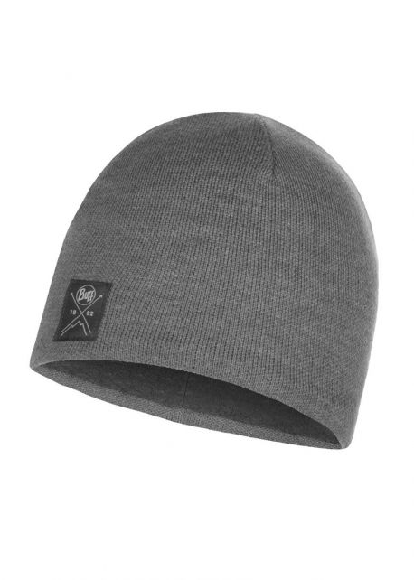 Buff---Knitted-Polar-Solid-Hat-for-adults---Grey
