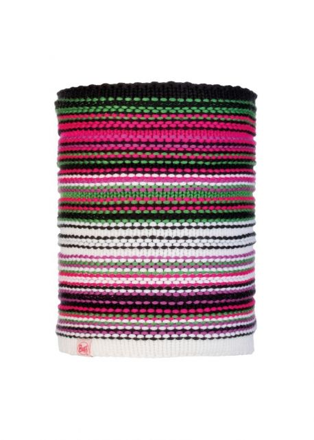 Buff---Knitted-Polar-Tube-scarf-Amity-for-children---Pink/Multi