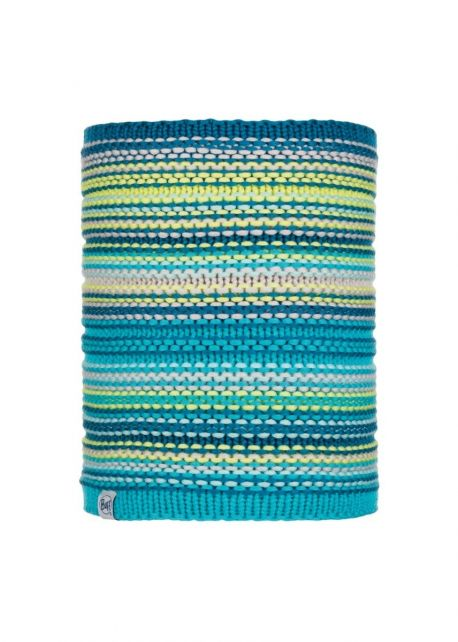 Buff---Knitted-Polar-Tube-scarf-Amity-for-children---Turquoise/Multi