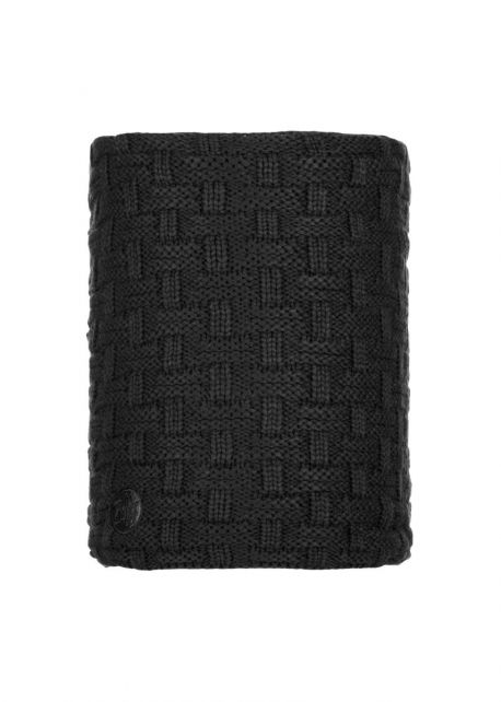 Buff---Knitted-Polar-Tube-scarf-Airon-for-adults---Black