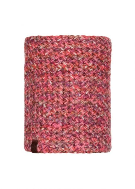 Buff---Knitted-Polar-Tube-scarf-Margo-for-adults---Flamingo-Pink