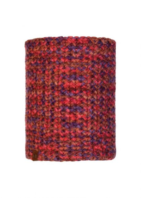 Buff---Knitted-Polar-Tube-scarf-Margo-for-adults---Maroon