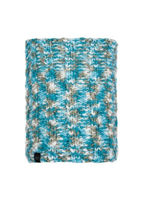 Buff---Knitted-Polar-Tube-scarf-Livy-for-adults---Aqua/Multi