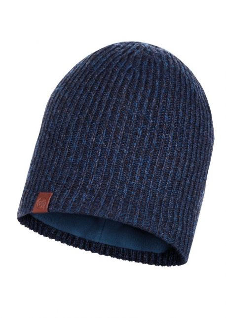 Buff---Knitted-Polar-Hat-Lyne-for-adults---Nightblue