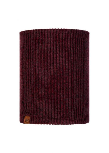 Buff---Knitted-Polar-Tube-scarf-Lyne-for-adults---Maroon