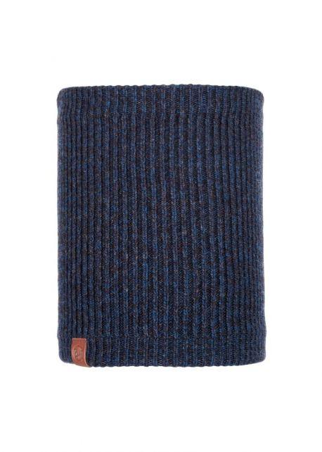Buff---Knitted-Polar-Tube-scarf-Lyne-for-adults---Nightblue