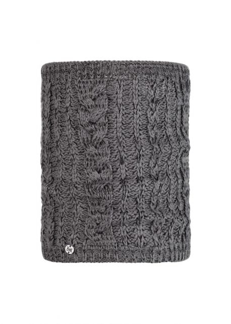 Buff---Knitted-Tube-scarf-Darla-for-adults---Grey-Pewter