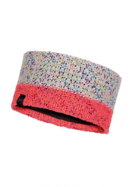 Buff---Knitted-Polar-Headband-Janna-for-adults---Pink/Multi