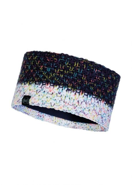 Buff---Knitted-Polar-Headband-Janna-for-adults---Nightblue/Multi
