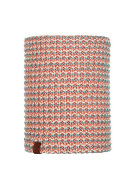 Buff---Knitted-Polar-Tube-scarf-Dana-for-adults---Pink/Multi