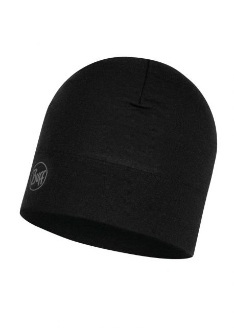 Buff---Midweight-Merino-Wool-Hat-Solid-for-adults---Black