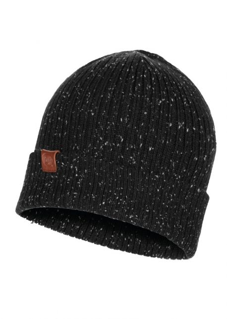 Buff---Knitted-Hat-Kort-for-adults---Black