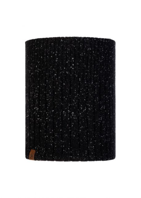 Buff---Knitted-Polar-Tube-scarf-Kort-for-adults---Black