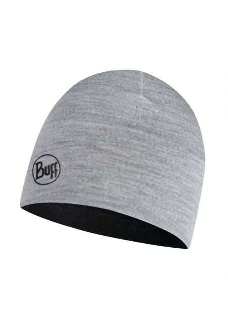 Buff---Reversible-lightweight-Merino-Hat-for-children---Black/Grey