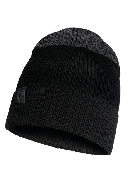 Buff---Knitted-Hat-Dima-for-adults---Black