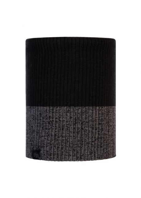 Buff---Knitted-Polar-Tube-scarf-Dima-for-adults---Black