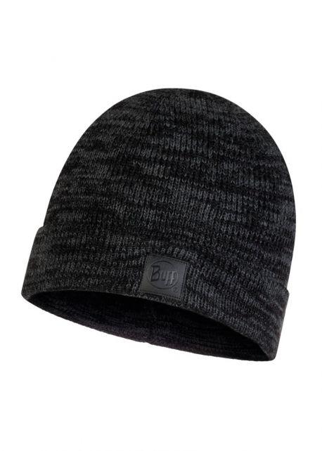 Buff---Knitted-Hat-Edik-for-adults---Grey/Black