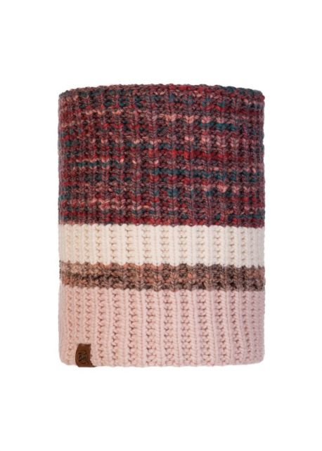 Buff---Knitted-Polar-Tube-scarf-Alina-for-adults---Pink/Multi