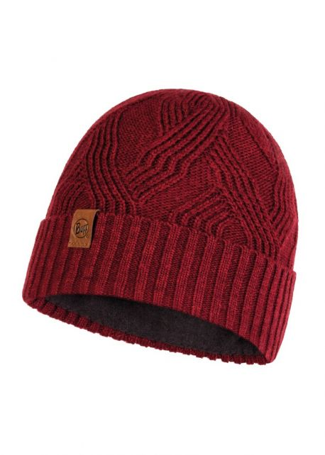 Buff---Knitted-Polar-Hat-Artur-for-adults---Red