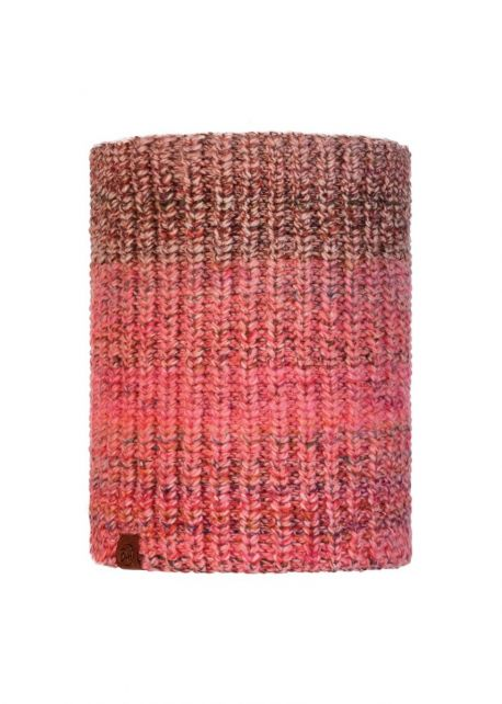 Buff---Knitted-Polar-Tube-scarf-Olya-for-adults---Pink/Multi