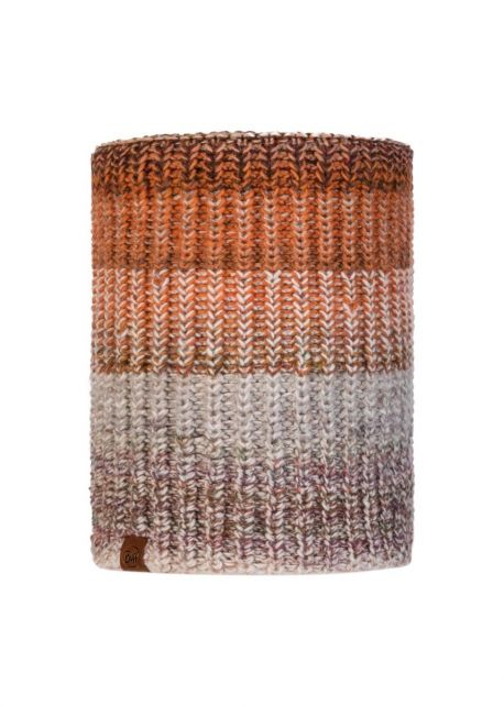 Buff---Knitted-Polar-Tube-scarf-Olya-for-adults---Brown/Multi