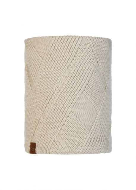 Buff---Knitted-Polar-Tube-scarf-Raisa-for-adults---Beige