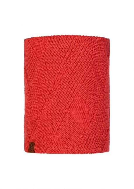 Buff---Knitted-Polar-Tube-scarf-Raisa-for-adults---Red
