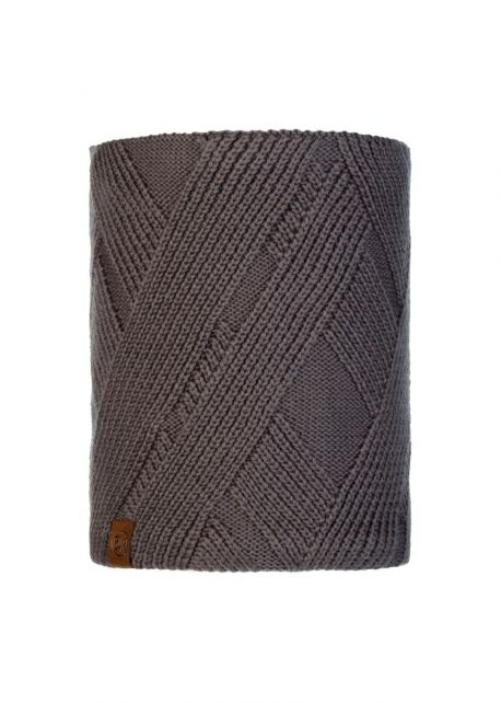 Buff---Knitted-Polar-Tube-scarf-Raisa-for-adults---Castlerock-Grey