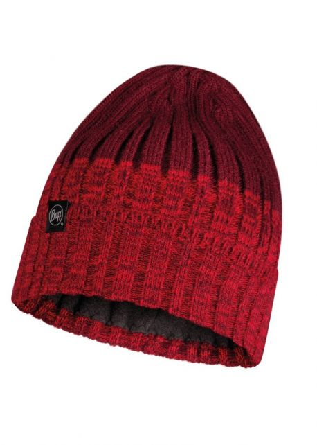 Buff---Knitted-Polar-Hat-Igor-for-adults---Red