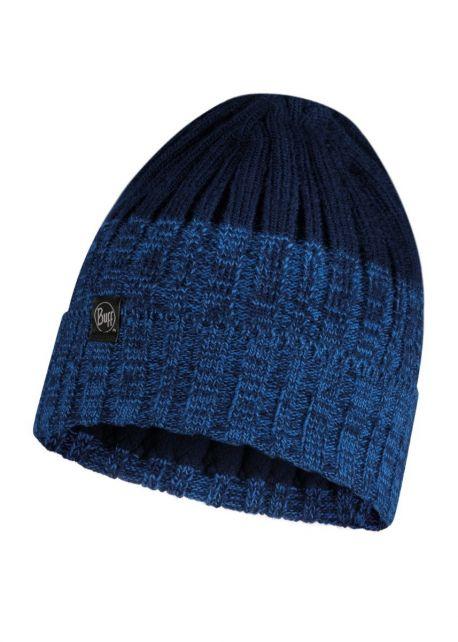 Buff---Knitted-Polar-Hat-Igor-for-adults---Nightblue