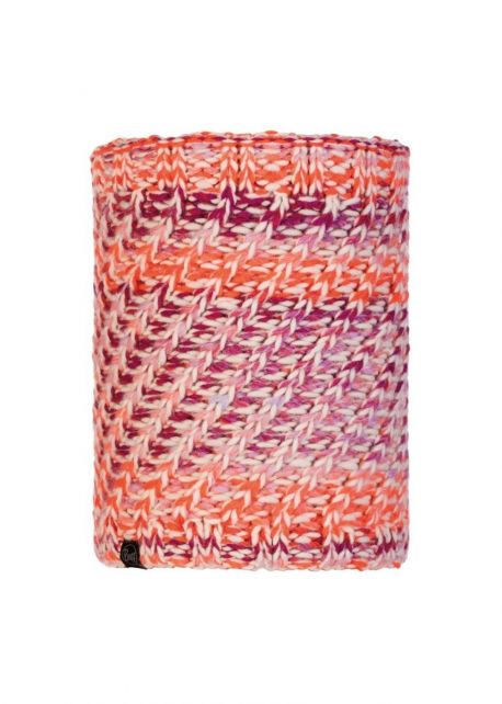 Buff---Knitted-Polar-Tube-scarf-Valya-for-adults---Orange/Multi