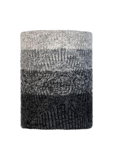 Buff---Knitted-Polar-Tube-scarf-Masha-for-adults---Grey