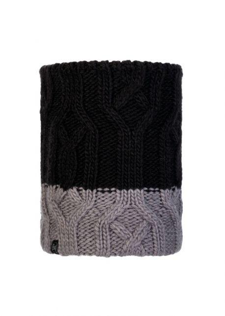 Buff---Knitted-Polar-Tube-scarf-Ganbat-for-children---Black/Grey