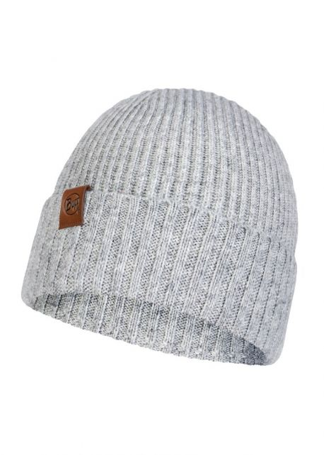 Buff---Knitted-Hat-New-Biorn-for-adults---Light-Grey