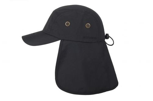 Hatland---UV-Sun-cap-with-neck-protection-for-men---Tropic---Anthracite