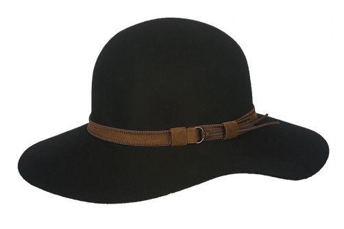 Hatland---Wool-hat-for-women---Leonora---Black