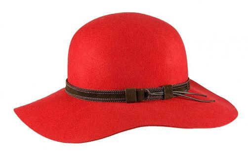 Hatland---Wool-hat-for-women---Leonora---Red