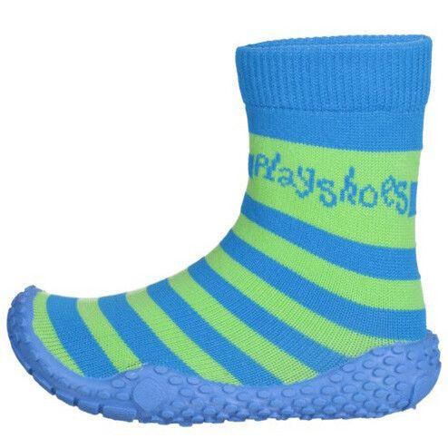 Playshoes---Aqua-socks-with-stripes-for-kids---Blue/green