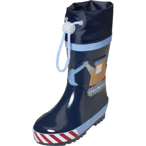 Playshoes---Rubber-boots-for-boys---Contruction-site---Blue